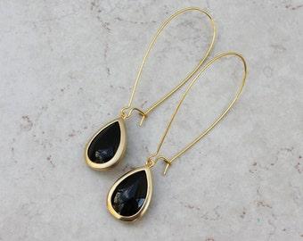 teardrop earrings - beaded jewelry - KRISTIN earrings