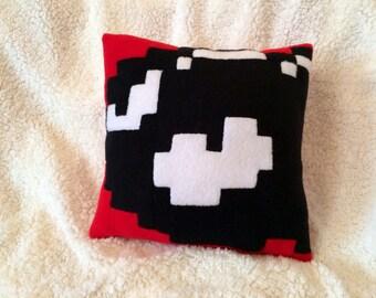 8 bit Bullet Bill pillow