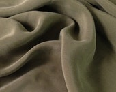 Olive Sueded Fabric (by the yard)