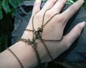 Gothic slave bracelet spider chain skull serpents rocker cosplay Harry Potter inspired larp belly dancer Halloween Tribal fusion  gypsy