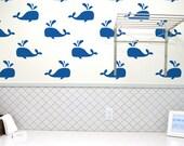 Whale Wall Stencil Reusable