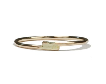 Imbricate. Simple delicate overlap ring.