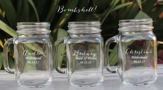 Wedding Party Gifts Groomsmen : ... Jar, Bridal Party Gift, Groomsman Gift, Groomsmen Gift, Mason Jar
