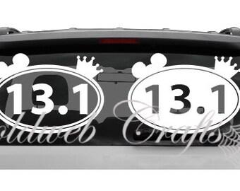 13.1 Disney Marathon/Running Vinyl Car Decal