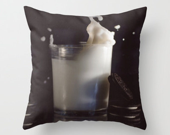 Milk and Cookies - Pillow Cover - Cover Only - Original Photo - Childs Pillow - Bedroom Pillow - Made to Order