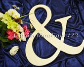 "14"" Wooden Ampersand Sign Photography UNPAINTED-DIY-Wedding Decor-Engagement- Photography prop"