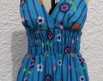 Floral Boho summer halter dress