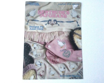 Counted Cross Stitch, Cross Stitch Pattern, Anne Cloth Afghans, Pattern for Geese, Goose Afghan