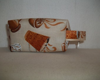Baby Box Bag / Project Bag great for knitting projects - coffee, latte, and cappuccino cups