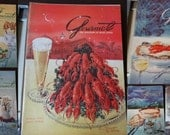Gourmet Magazine 1955- A complete year of recipes - 12 issues Vintage Cooking Magazines