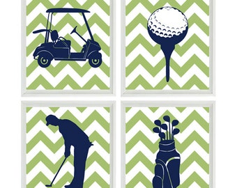 Golf Art Prints, Golf Nursery Wall Art, Baby Boy Nursery, Golf Room Decor, Golf Bedroom, Golf Cart, Golf Clubs, Boy Room Wall Art, Golf Gift
