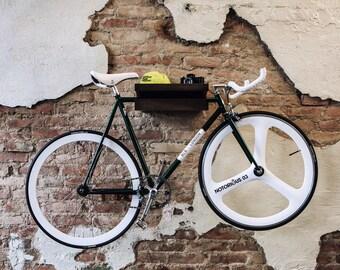 FLASH SALE 30% off: FIXA multi functional wood bike shelf - bike rack - wall holder furniture mount