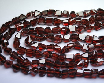 8 Inch Strand,Super Finest-Quality- AAA Quality Best Gems Mozambique Garnet Faceted Nuggets,7-8mm