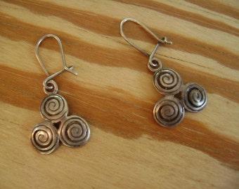 little triskelion earrings in sterling