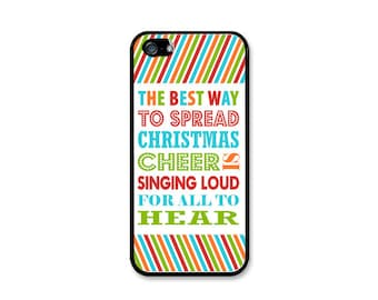 Buddy The Elf Christmas Cheer Phone Case! Choose iPhone 4/4s, 5/5s, 5c or Galaxy S4, S5.