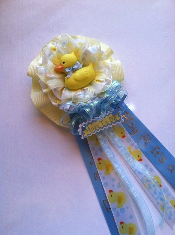 Rubber Ducky Mommy To Be Baby Shower Corsage It's a
