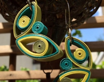 Paper Earrings / First Anniversary Gift for Her / Paper Jewelry / Eco Friendly Jewelry / 1st Anniversary Gift - Mariposa