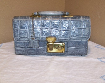 Vintage 1960's MOD Smoky Gray Handbag Joseph Magnin