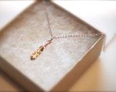 Petite Rose Gold Leafy necklace