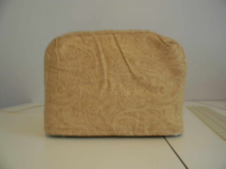 toaster cover 2 slice gold paisley print. Black Bedroom Furniture Sets. Home Design Ideas