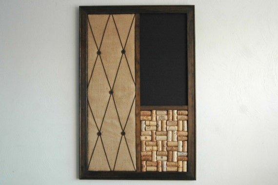 large burlap french memo board chalkboard corkboard modern. Black Bedroom Furniture Sets. Home Design Ideas