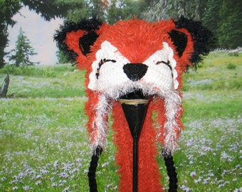 Super Fluffy Fox Hat with Tail