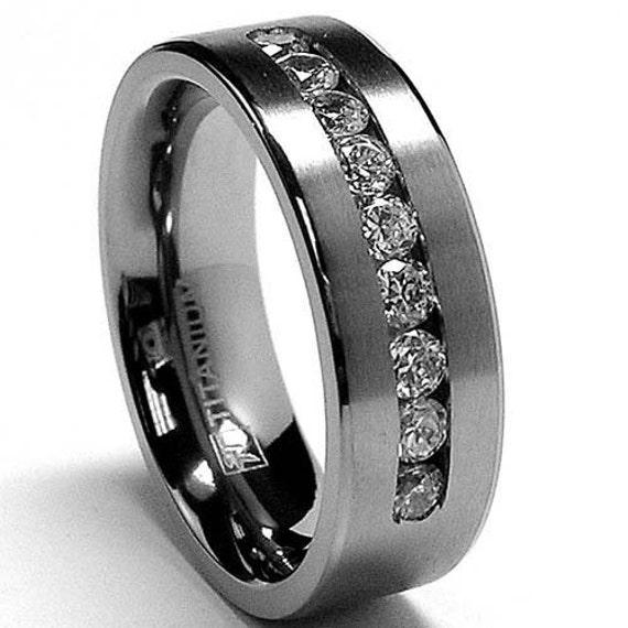 8mm titanium wedding band mens wedding ring womens by