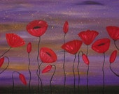 ORIGINAL  LARGE  Abstract  Painting  Contemporary Art  Red Poppies   Modern by Tanja Bell