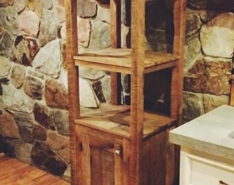 Barn wood linen cabinet