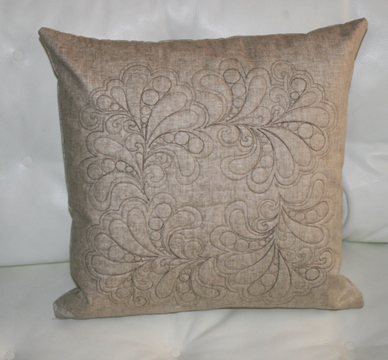 Decorative quilted throw pillow cover by morethanjustquilts