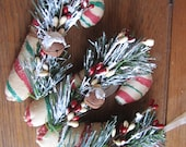 Primitive Candy Cane Tree Decoration Holiday Ornament Christmas Tree Decor
