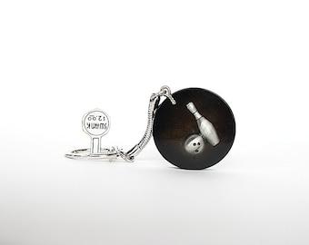 Vintage Keychain - Bowling Keychain - Vintage Swank Keychain - Gift for Bowler - Bowling Gift - Key Chain - Fun Gift - Key Ring - Key Holder