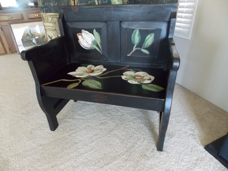 Hand Painted Bench By Dbdesign Chair By Designersshowcase