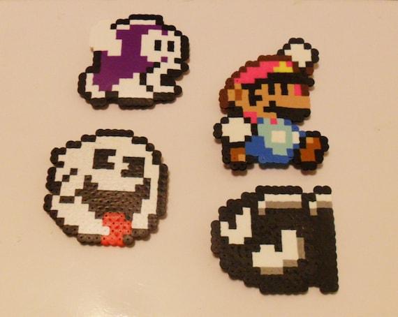 Nintendo pixel magnets mario pixel art pixel art pixel magnets