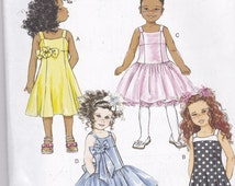 Butterick 5845 Classic Pattern Toddler Girls Party Dress in 4 Variations Size 2,3,4,5 UNCUT