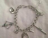 The Walking Dead Inspired Charm Bracelet