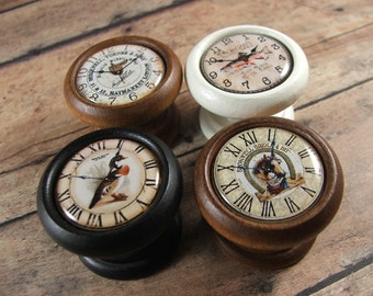 Outdoors Clock Face Decorative Duck, Saddle, Horse, Fish Knobs...Price is for 1 Knob (Quantity Discounts Available!)