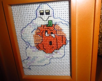 Now on sale!!! Ghost with Jack o'lantern magnet   Price as marked