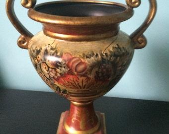 """Ceramic urn vase trophy  cup 12"""""""