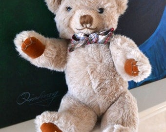 BARNEY - Vintage Merrythought 18 Inches Teddy Bear  with Label