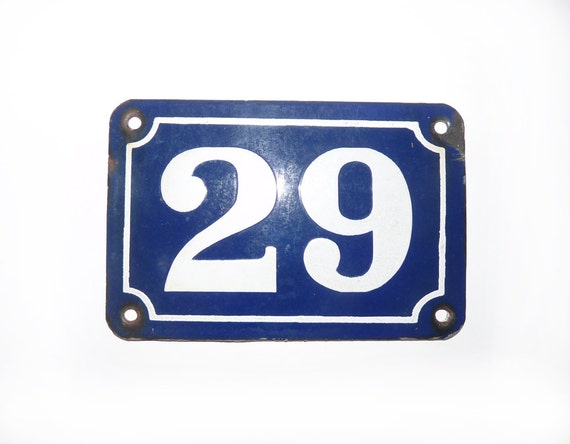 french enamel street number 29 vintage by frenchvintageshop