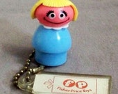 Fisher-Price Sesame Street figure of Prairie Dawn & FP Key Chain