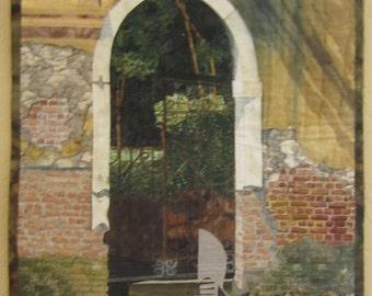 Landscape art quilt- Rendevous in Venice