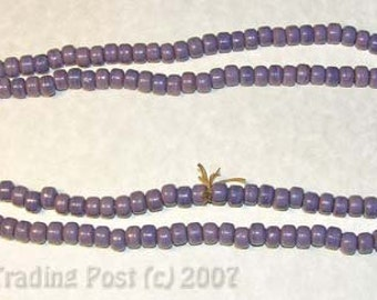 2 Strands Purple Crow Beads - Rendezvous - Sewing - Crafts - Re-enactor