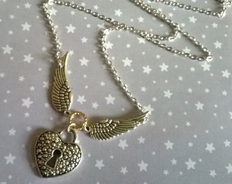 My Steampunk Flying Heart Necklace
