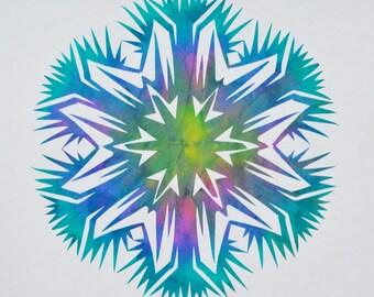 snowflake, paper cutting, scherenschnitte, kirigami