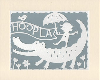 Hoopla! Crocodile Fun Papercut Art