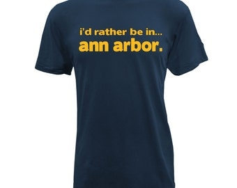 Rather Be in Ann Arbor - American Apparel - Navy