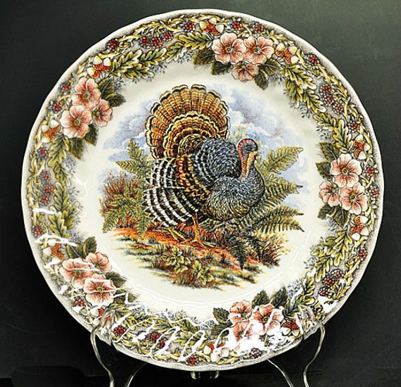 thanksgiving dinner plate myott churchill tableware turkey. Black Bedroom Furniture Sets. Home Design Ideas