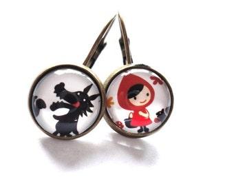 Earrings Red Head